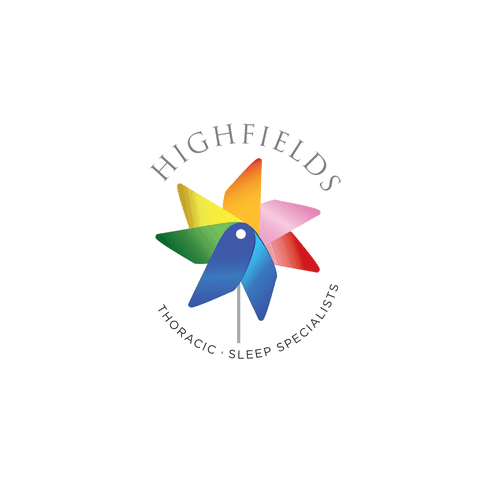 Specialist logo with the title 'Highfields Thoracic & Sleep Specialists'