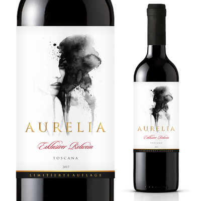 Wine Etikette für Premium wine Aurelia