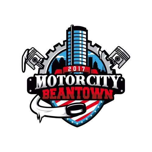 Motor logo with the title 'Motor City Beantown'
