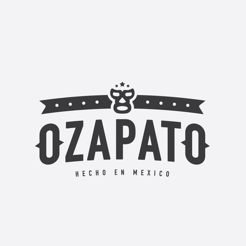 Mask logo with the title 'Ozapato'