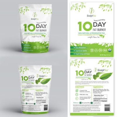 Simple packaging for Wellness Tea