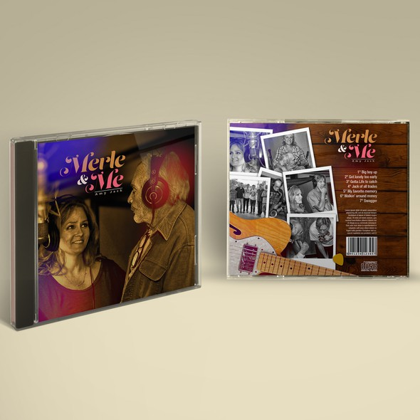 Country music design with the title 'Merle & Me'