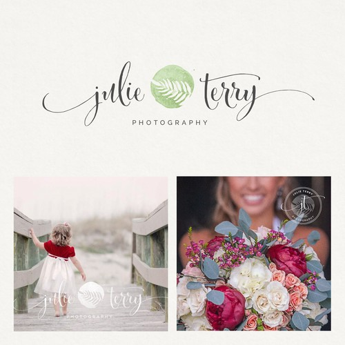Best logo with the title 'Julie Terry photography 🌱'