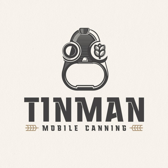 Can logo with the title 'tinman mobile canning'
