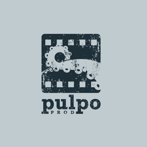 Production house logo with the title 'Pulpo - Logo for a film production company'