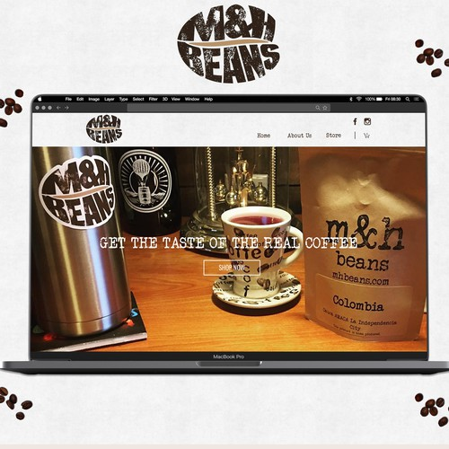 Organic website with the title 'Coffee Roaster Website'
