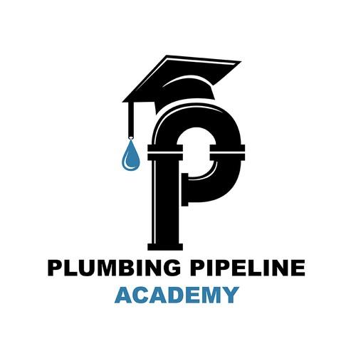 Plumbing logo with the title 'Plumbing Pipeline Academy'