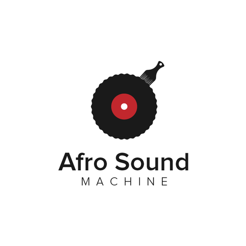 Record logo with the title 'Afro Sound Machine'