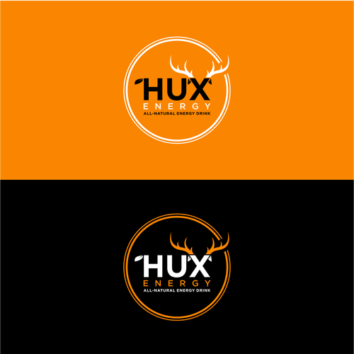 Energy drink logo with the title 'bold logo concept for HUX energy'