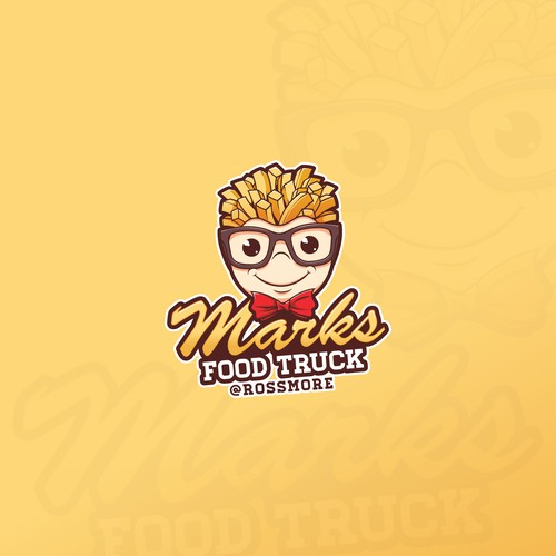 Boy design with the title 'Marks Food Truck'