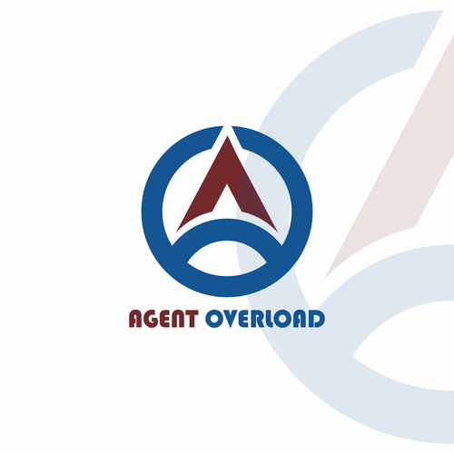 Agent logo with the title 'AGENT OVERLOAD logo design'
