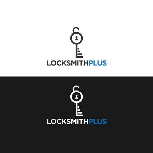 Locksmith logo with the title 'Logo for Locksmith Plus'