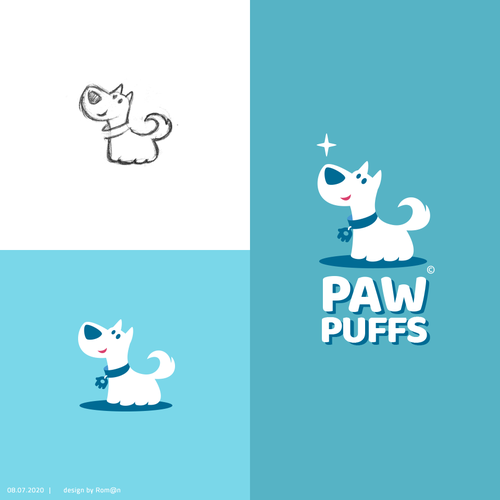 Store design with the title 'PAW PUFFS'