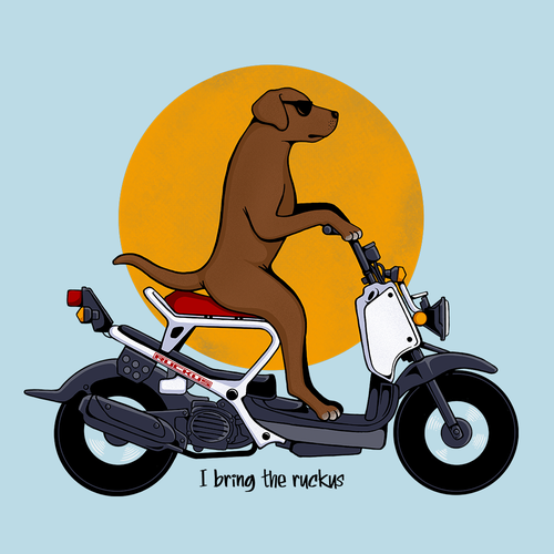 Pet t-shirt with the title 'Ruckus'