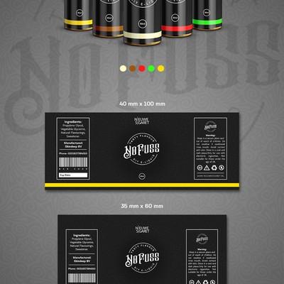 Label design for e cigarette liquid