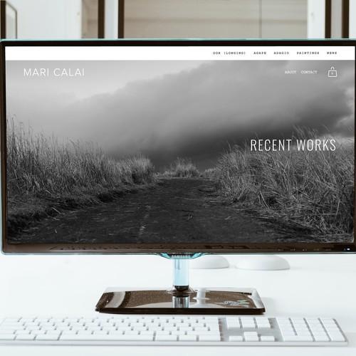 Portfolio website with the title 'Mari Calai artist'