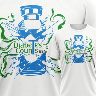 A fun, edgy t-shirt design for young people living with type 1 diabetes