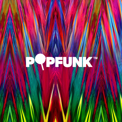 Contemporary logo with the title 'Popfunk Logo'