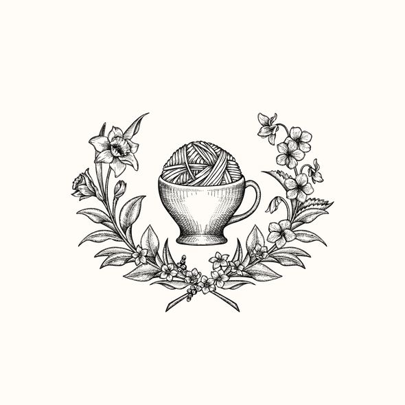 Foliage design with the title 'Earl Grey Fiber Co. - logo upgrade'