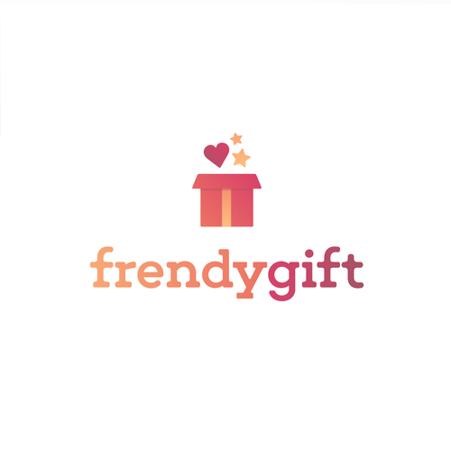 Gift box logo with the title 'Logo for an Online Gift Shop'