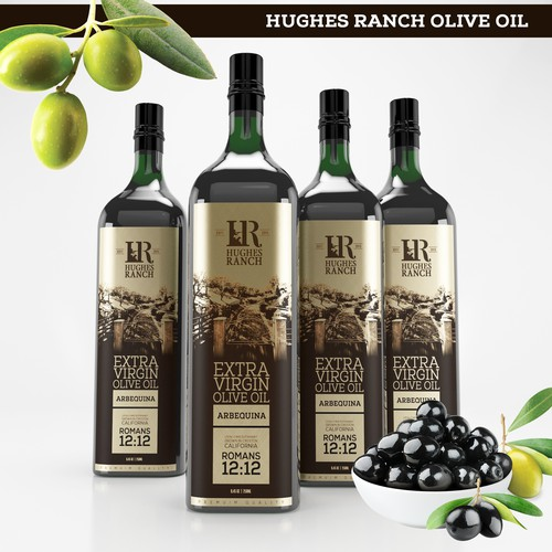 Olive oil design with the title 'OLIVE OIL'