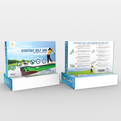 Sport packaging with the title 'putting golf mat'