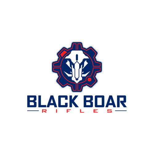 Tactical logo with the title 'Logo design for Black Boar Rifles'