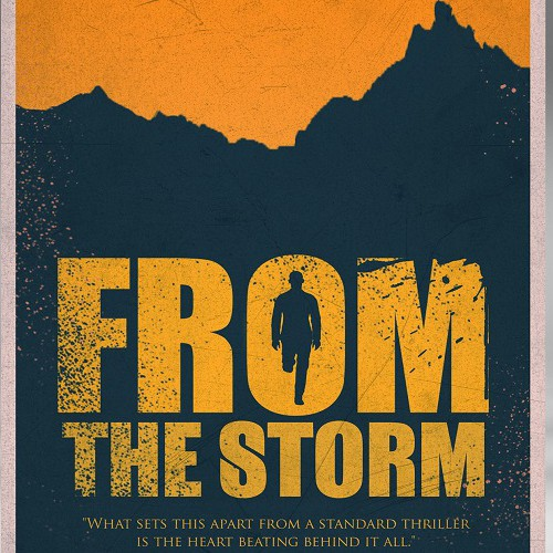 Poster book cover with the title 'From the storm '