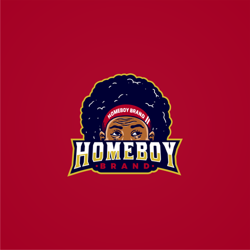 Swag logo with the title 'Logo Concept for Homeboy Brand'