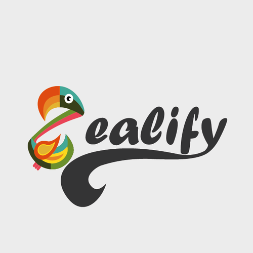 Flamingo logo with the title 'Create an exciting logo for a tech startup - Zealify'