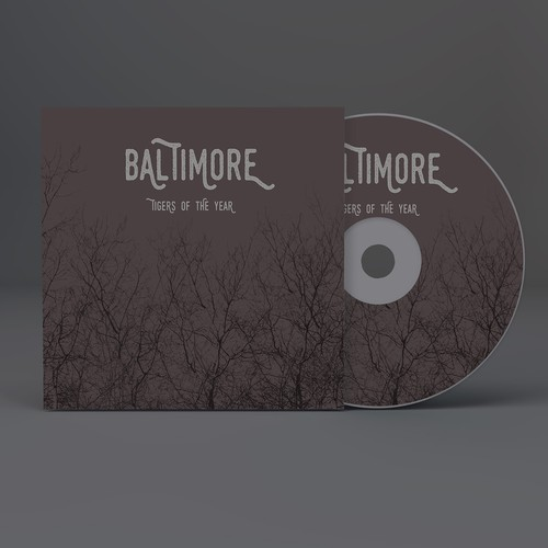 Band illustration with the title 'ALBUM COVER FOR BALTIMORE BAND'