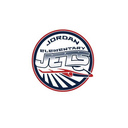 Jet design with the title 'Emblem for school sport team'