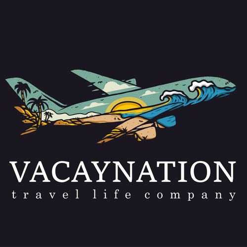 Summer t-shirt with the title 'vacaynation'