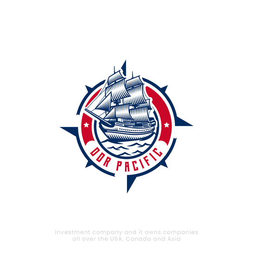 Pirate ship design with the title 'Pirrate ship vintage logo design'