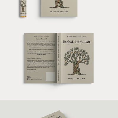 Baobab Tree's Gift illustration, Book Cover and Essential Oil Bottle Sticker