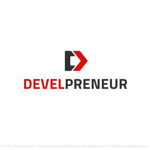 Programming design with the title 'Logo design for development platform'