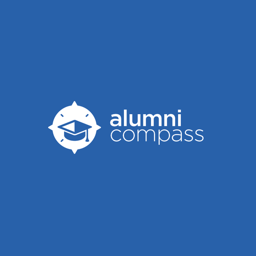 Study logo with the title 'Alumni compass logo concept'