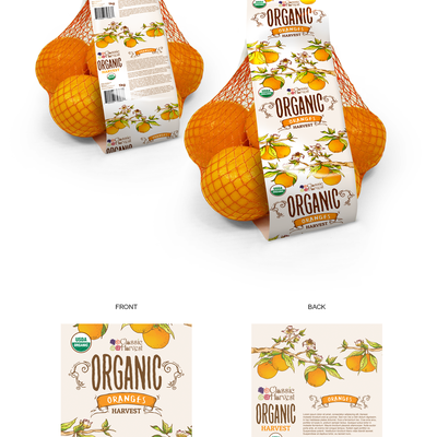 Oranges bag label