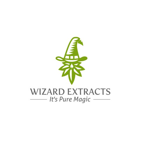 Marijuana leaf design with the title 'Cannabis Wizard Logo'