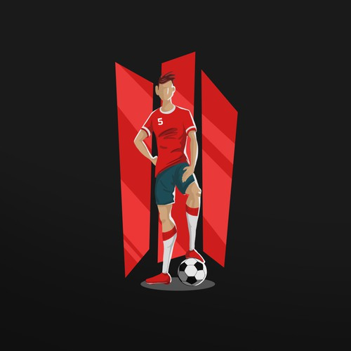 Football artwork with the title 'Illustration '