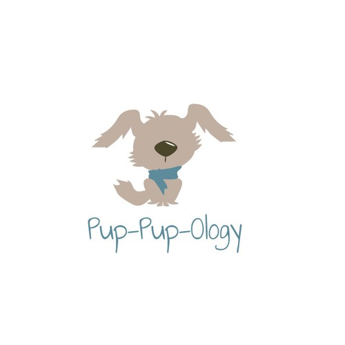 Scarf design with the title 'Puppy Clothing boutique'