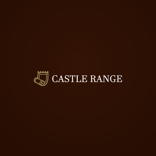 Carpet design with the title 'Castle Range Logo'