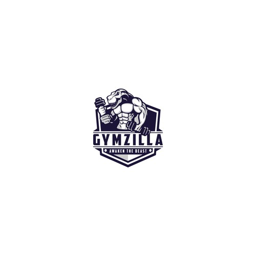 Godzilla logo with the title 'GYMZILLA'