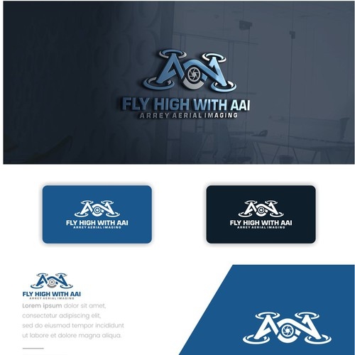 Drone brand with the title 'Fly High with AAI'