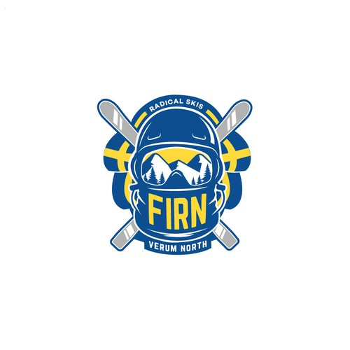 Ski logo with the title 'FIRN'