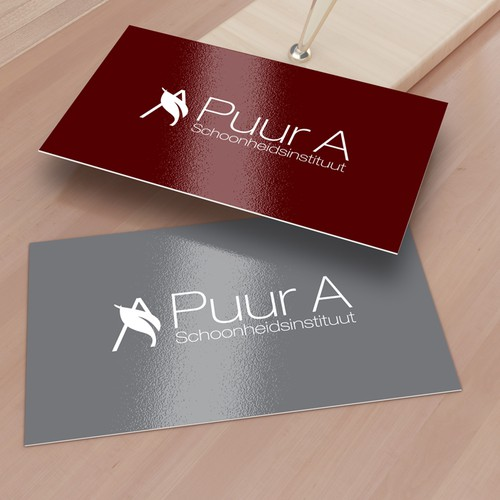 Beauty salon design with the title 'New logo wanted for Pure A beauty salon a small cozy business where people can come to enjoy face and body treatments, sugar waxing, massages, manicures and pedicures.'