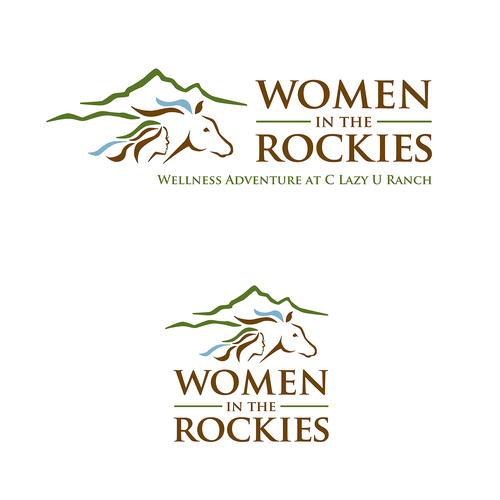 Ranch design with the title 'Women in the Rockies: Wellness Retreat at C Lazy U Ranch'