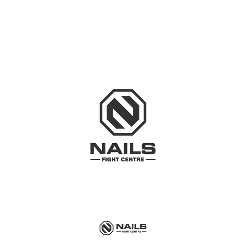 Nail logo with the title 'NAILS fight centre'