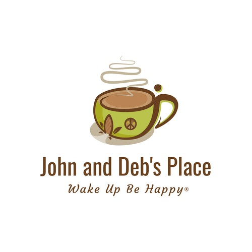 Freehand logo with the title 'John and Deb's Place'