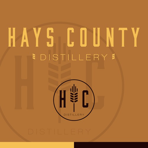 Barley logo with the title 'Hays County Distillery'
